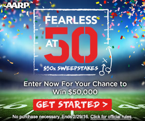 Expired: Fearless at 50! Win $50,000