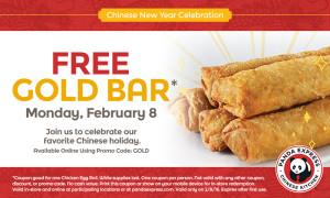 Expired:Free Gold Bar at Panda Express