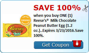 Expired:Free Reese's Peanut Butter Egg