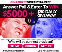 Expired: Sweepstakes a Day-Trump vs Hillary