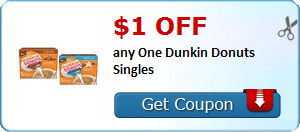 Expired: Dunkin Donuts Singles Coupon