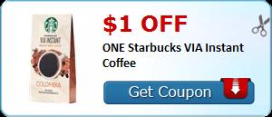 Expired:Starbucks VIA Instant Coffee Coupon