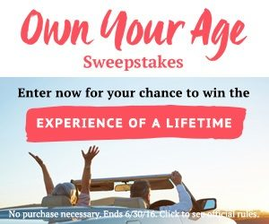 Expired: Own Your Age Sweepstakes: Win a Dream Vacation!