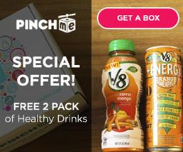 Expired: Free 2 Pack of Healthy Drinks from PINCHme