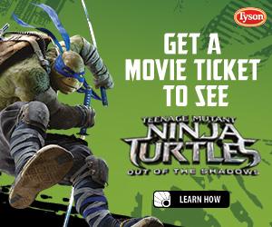 Expired:Free TMNT 2 Movie Ticket