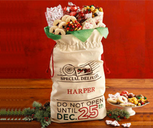 Win a Personalized Santa's Sack of Snacks!