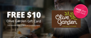 Free $10 Olive Garden Gift Card!