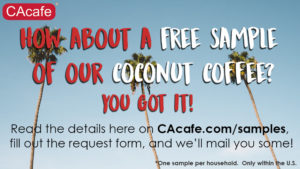 Expired: Free Cacafe Coconut Coffee & Tea Sample