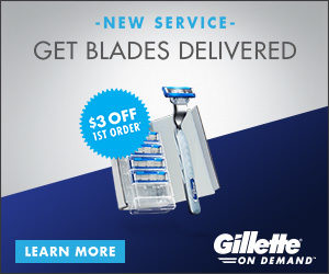 Expired:$3 Off First Order Plus Free One with Gillette!