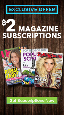 Your Favorite Magazines for Only $2!