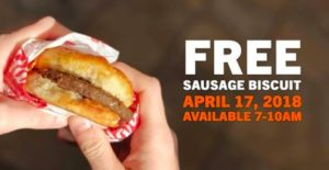 Expired: Free Sausage Biscuit at Hardee's